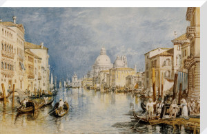 The Grand Canal Venice, with Gondolas and Figures in the Foreground by Joseph Mallord William Turner