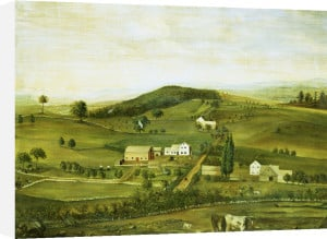 An American Farm: Fall View From The East by American School