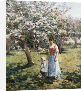 Promenade Among The Blossoms by Theodore Robinson