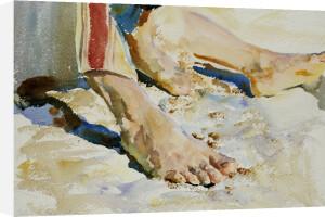 Feet Of An Arab, Tiberias by John Singer Sargent
