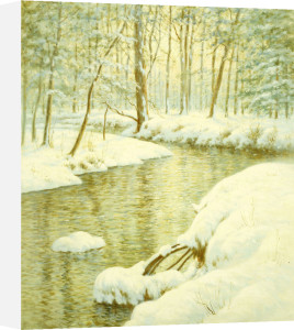 Winter Stream, Sunset Glow by Walter Launt Palmer