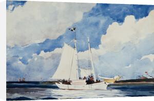Fishing Schooner, Nassau, 1898 by Winslow Homer