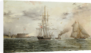 New York Bay - Castle Clinton, C.1875 by James E. Buttersworth
