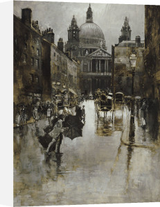 West Front Of St Paul's From Ludgate Hill by Joseph Pennell