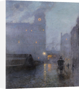 Grand Central And The Biltmore In Hazy Twilight by Lowell Birge Harrison