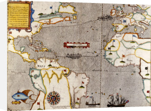 Sir Francis Drake's West Indian Voyage Map, C.1589 by Christie's Images
