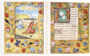 Book Of Hours, Calendar Page: Peasants Slaughtering A Pig, Ca.1500 by Christie's Images