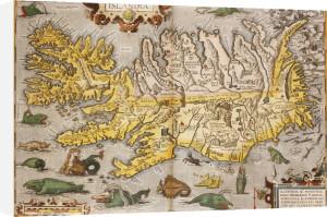 Map Of Iceland from 'Theatrium Orbis Terrarum Opus Nunc Denuo Ab Ipso', 1595 by Christie's Images
