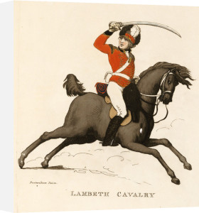 Lambeth Cavalry, from 'Loyal Volunteers Of London & Environs, 1798 by Christie's Images