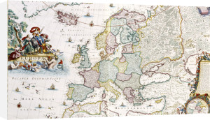 Map Of Europe, Showing Europe And Western Russia, Iceland And Greenland... by Cornelis Danckerts