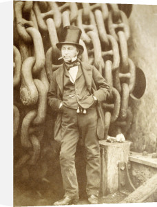 Isambard Kingdom Brunel At Millwall, Leaning Against A Chain Drum by Robert Howlett