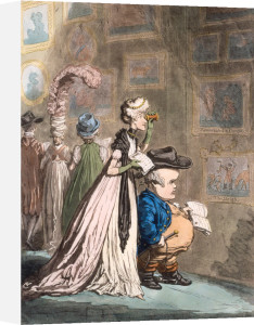 A Peep At Christies; - Or - Tally-Ho, And His Nimeny-Pimmeney Taking The Morning Lounge by James Gillray