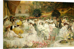 A Restaurant Terrace, 1904 by French School