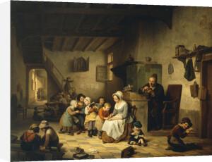 The School Room, 1847 by Basile de Loose