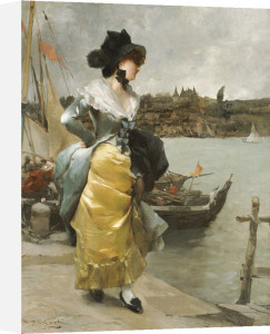 At The Quayside by Emile-Auguste Pinchart