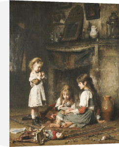 Blowing Bubbles by Alexei Alexeiewitsch Harlamoff
