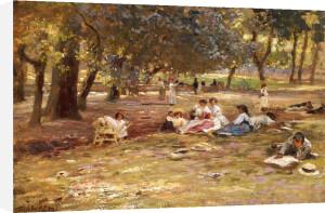 In The Park by Franz Theodor Aerni