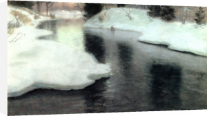 Thawing Ice: The Lysaker River, 1887 by Fritz Thaulow