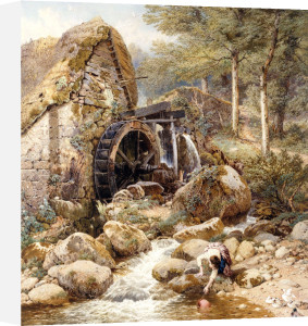 An Old Water Mill by Myles Birket Foster