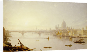 Southwark Bridge And St. Paul's Cathedral From London Bridge by George Fennel Robson