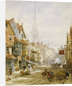The High Street, Salisbury by Louise Rayner