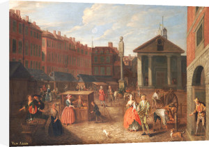 View Of Covent Garden Market From The East With The Church Of St Paul's by Joseph Van Aken