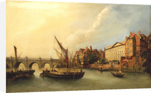 Westminster Bridge And The North Bank Of The Thames From The River by John Paul