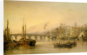 A View Of Newcastle From The River Tyne, 1831 by Thomas Miles Richardson