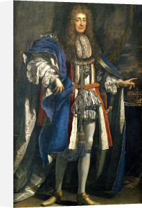 Portrait Of King James II (1633-1701), In Garter Robes by Benedetto Gennari