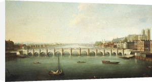 A View Of The Thames At Westminster Bridge, Circa 1730 by Joseph Nickolls