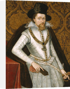 Portrait Of King James VI Of Scotland, James I Of England (1566-1625) by John de Critz