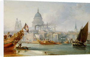 A View Of Saint Paul's From The Thames by George Chambers