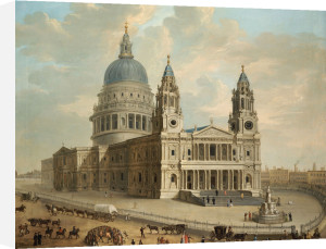 View Of St. Paul's Cathedral With Figures In The Foreground by English School