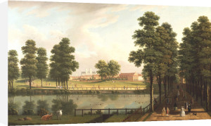View Of St. James's Park With Westminster Abbey Beyond by John Inigo Richards