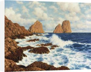 The Rocks At Capri by Ivan Federovich Choultse