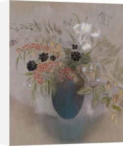 Flowers In A Vase. Fleurs Dans Un Vase by Odilon Redon