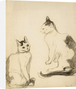 The Two Cats by Theophile-Alexandre Steinlen