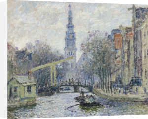 Canal A Amsterdam, 1874 by Claude Monet