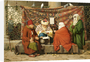 A Turkish Notary Drawing Up A Marriage Contract, Constantinople, 1837 by Martinus Rorbye