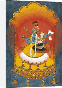 Vishnu And Lakshmi Enthroned. Basohli School C.1690 by Christie's Images