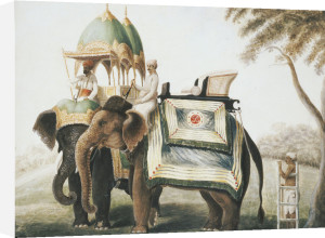 Elephants With Their Mahout, Circa 1815 by Christie's Images