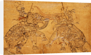 Elephants In Combat, Mughal, Circa 1600 by Christie's Images
