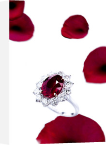 Ruby And Diamonds by Christie's Images