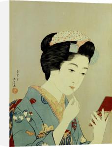 A Maiko Applying Rouge To Her Lips by Hashiguchi Goyo