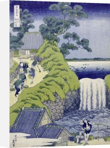 Aoigaoka Waterfall in the Eastern Capital. by Katsushika Hokusai
