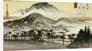 Evening Bell At Mii Temple. From The Series The Eight Views Of Lake Biwa by Ando Hiroshige