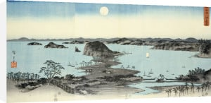 Night View Of Eight Excellent Sceneries Of Kanazawa In Musashi Province by Ando Hiroshige