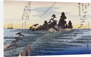 Descending Geese At Haneda by Ando Hiroshige