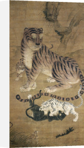 Tiger And Cubs by Christie's Images
