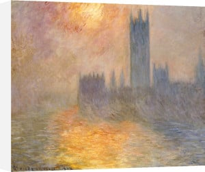 Parliament At Sunset, 1904 by Claude Monet